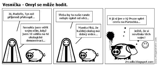 Komiks Vesnička - Omyl se může hodit.