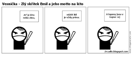 Komiks Vesnička - Emil a jeho motto na léto.