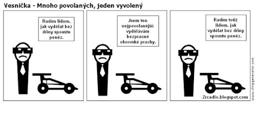 Komiks Vesnička - Mnoho povolaných, jeden vyvolený.