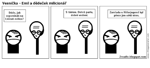 Komiks Vesnička - Emil a dědeček milicionář.