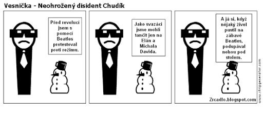 Komiks Vesnička - Neohrožený disident Chudík.