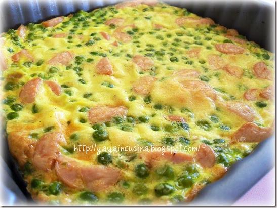 Yaya in cucina frittata al forno con piselli e wurstel for Cucinare wurstel al forno