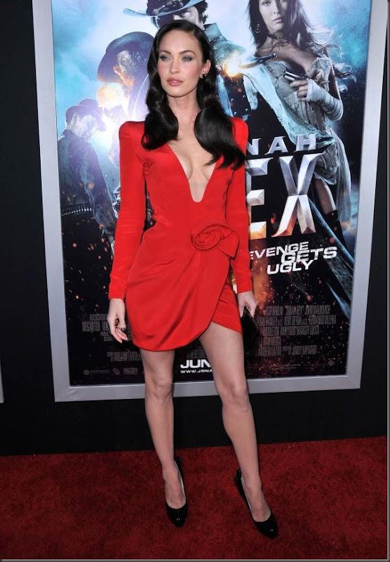 Megan Fox de vestido vermelho (6)