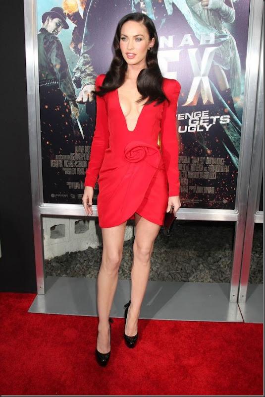 Megan Fox de vestido vermelho (5)