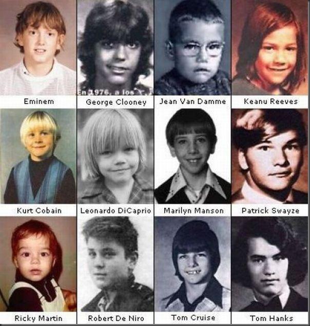 celebridades quando eram guris