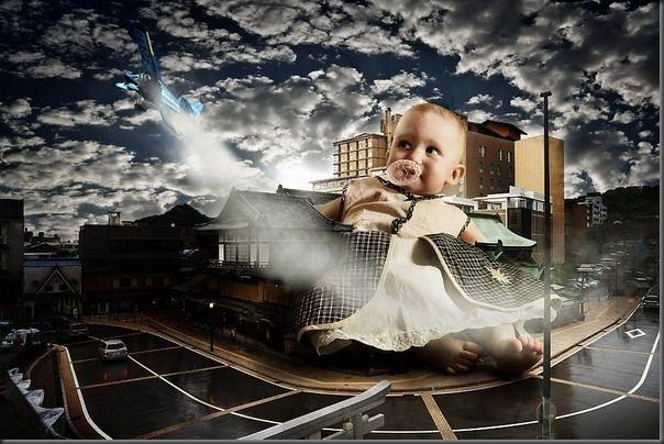 Grandes crianças em uma pequena cidade (3)