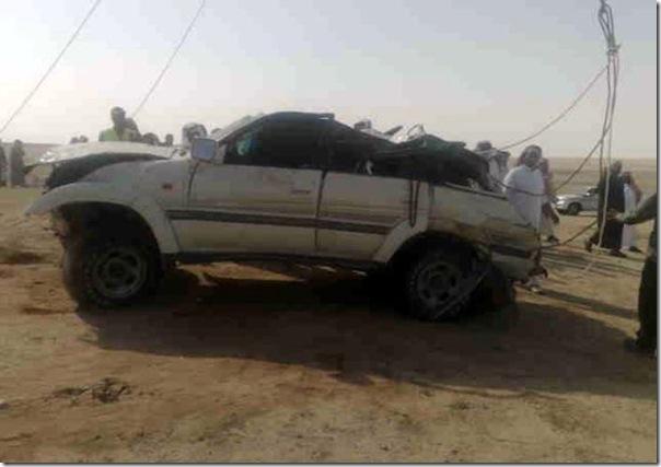 Carro cai em um poço na Arábia Saudita (8)