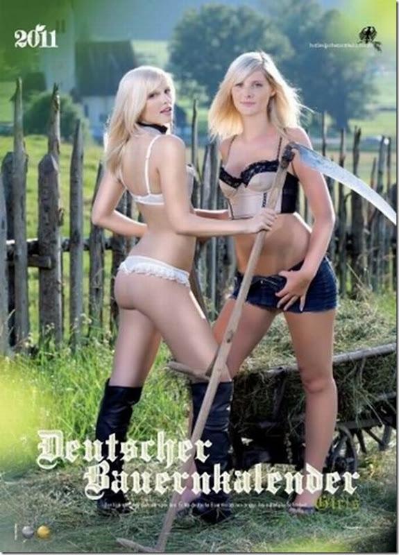 Garotas alemãs fazendeiras