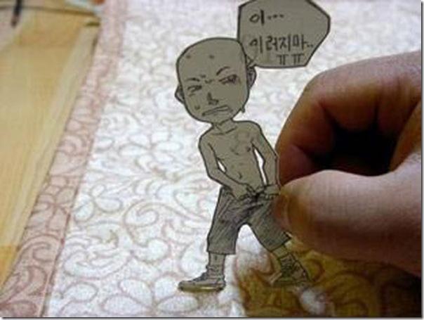 Personagens animados de cortes em papel (21)
