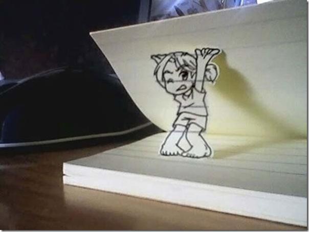 Personagens animados de cortes em papel (12)