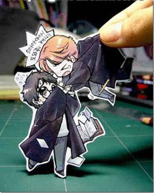 Personagens animados de cortes em papel (9)