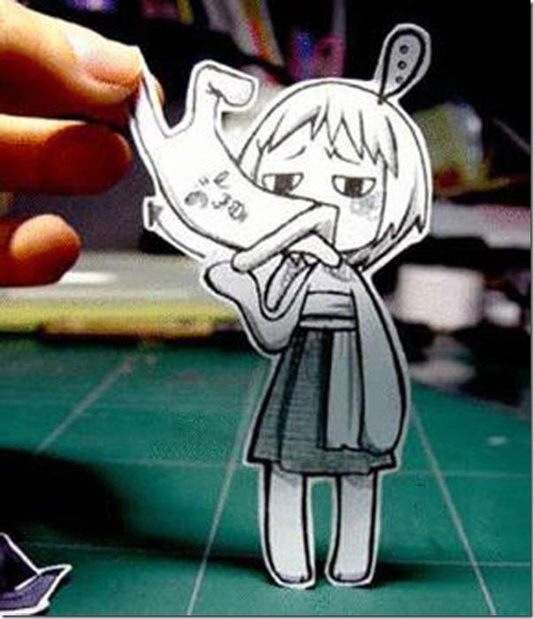 Personagens animados de cortes em papel (7)