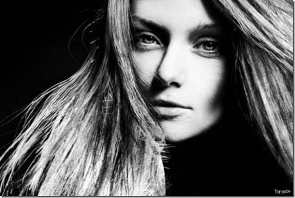A beleza das garotas em fotos preto e branco (9)
