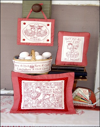 Nest Friends RedWork #165 001