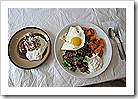 Eggs_Sausage_Yam_GF Chocolate Pancake