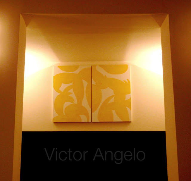 Victor Angelo diptych minimalism conceptual painting fine arts modern contemporary art