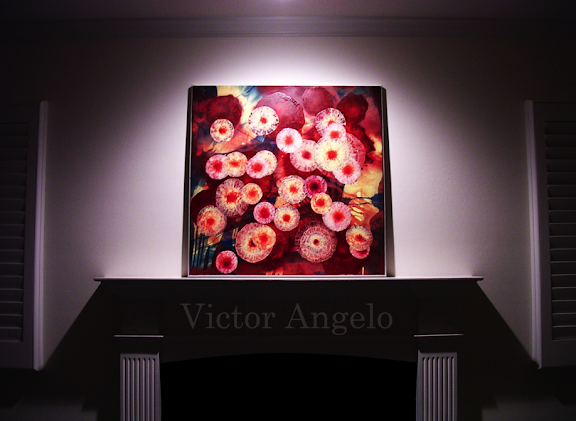 Victor Angelo  the point of conception painting at art collector's estate fine arts modern contemporary art