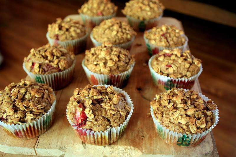 Muffin Strawberry Strawberry Granola Muffins