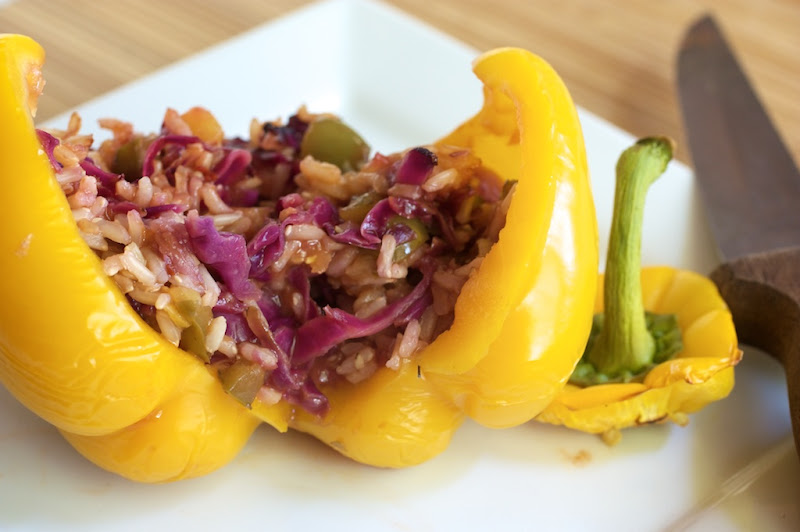 Sweet and Sour Stuffed Pepper | Naturally Ella