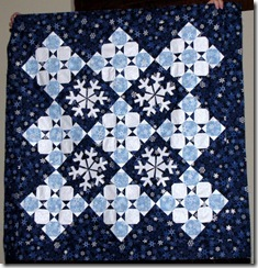 Snowflake Wallhanging that I designed and will someday write a pattern for.