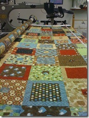 "Cafe Bistro ""In & Out"" Quilt.  Still working on binding it."