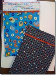Suess and Pac Man Pillow Cases for ME
