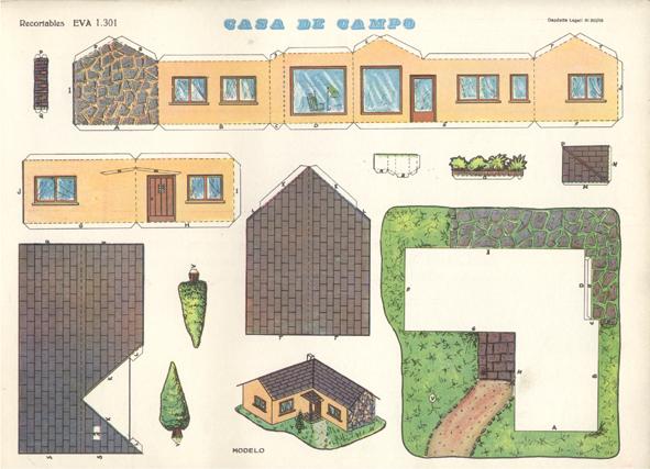 Recortables de casas y castillos - Maquetas de chalets ...