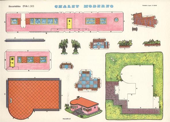 Recortables de casas y castillos for Dixversion meuble