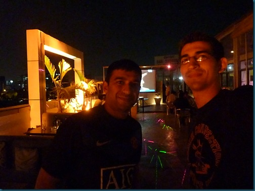 Jokes with Arfan on the rooftop at F9