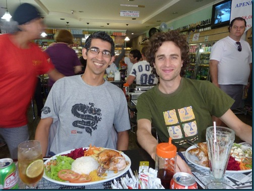 Francisco, me and some serious food!