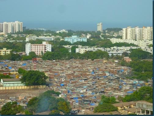Poor man's Cuffe Parade. Ambedkar Nagar slum.