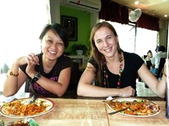 Hyderabadi food with Angelina and Asia