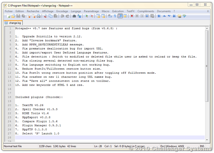 NotePad  5.7.a