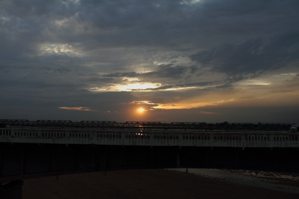 Sunset at Mahanadi River Bridge, Orissa