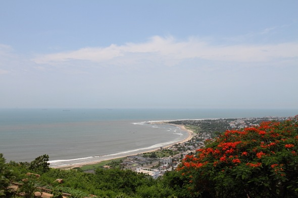 Aerial View of Vizag City