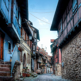 HDR à Eguisheim by Pierre Husson - City,  Street & Park  Historic Districts ( charming village, hdr, old town, france, alsace )