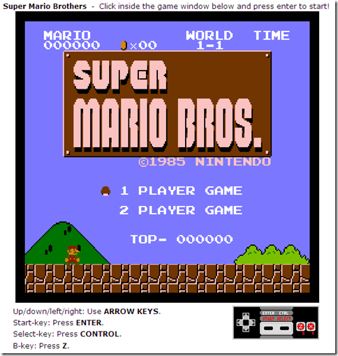 giocare online super mario bros nintendo 8 bit