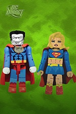 Mini-Mates Bizarro and Supergirl