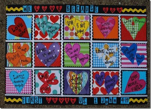 valentines placemat