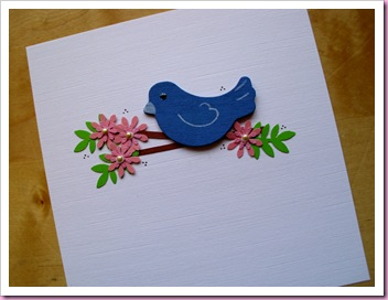 Blue Bird Card