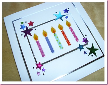 Birthday Candles and Star card