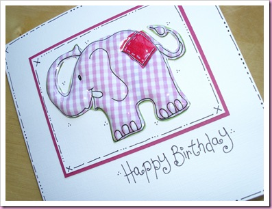 Patchwork elephant Card