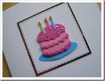 Birthday Cake Card 1