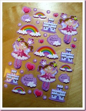 Poundland Fairy Princess Stickers