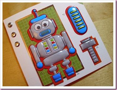 Big Blue Robot Card