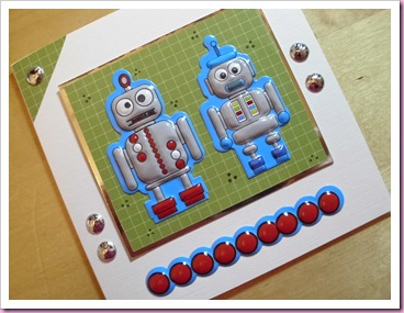 Two Blue Robots Card