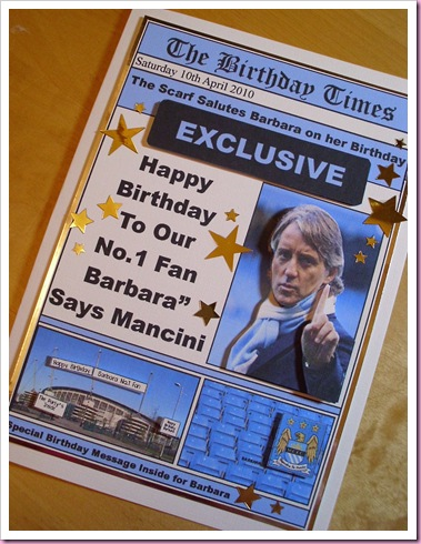 Manchester  City Birthday Card