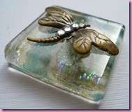 Large Dragonfly on glass tiles
