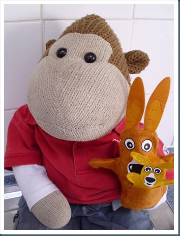 Monkey with Puppets