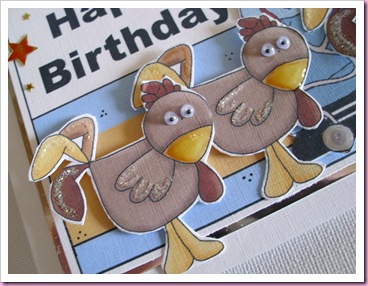 Chickens on Birthday Card